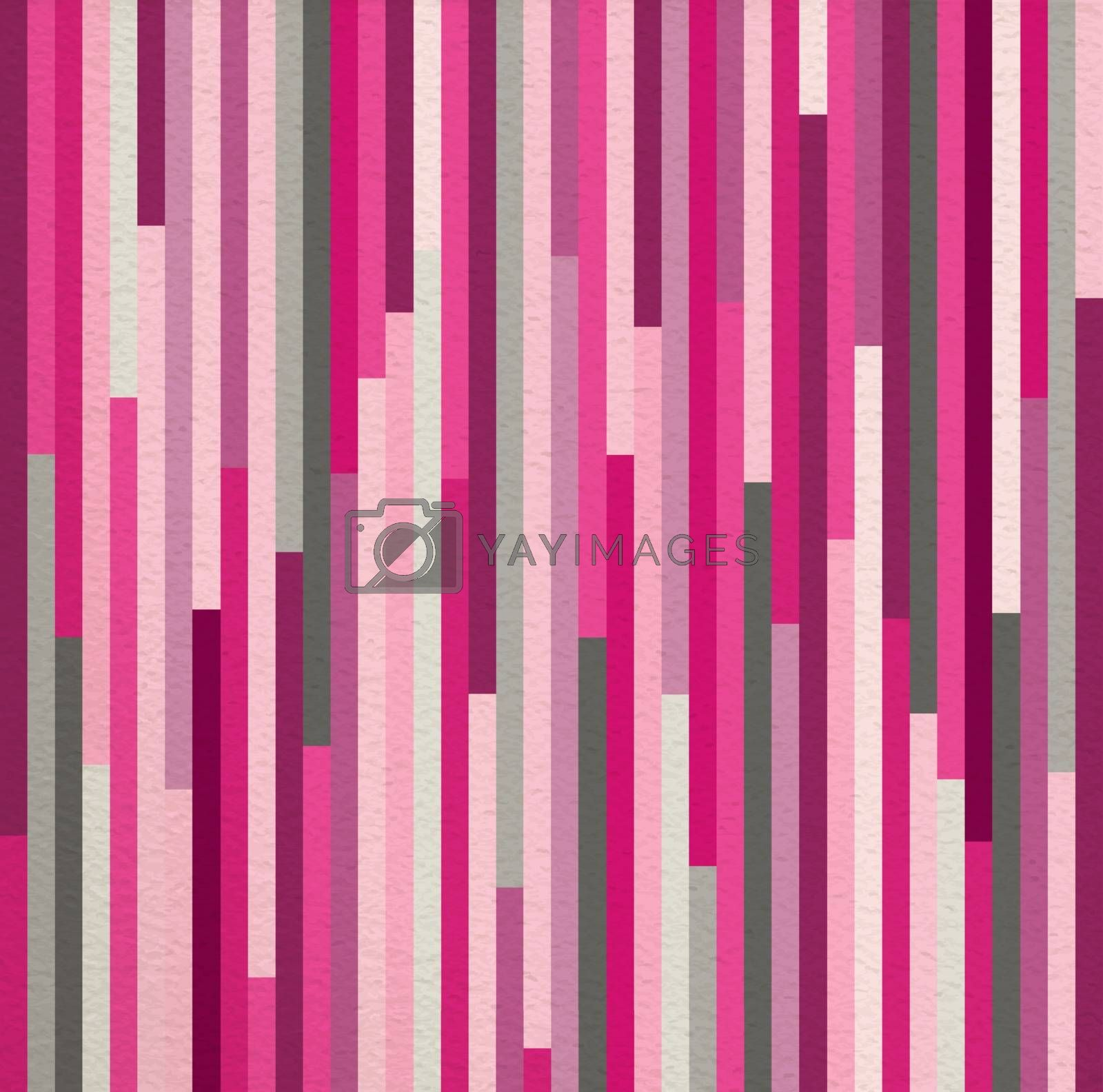 Geometric abstract pink vintage retro seamless pattern striped background. Ideal for fabric, wrapping paper, or print. EPS10 vector file.