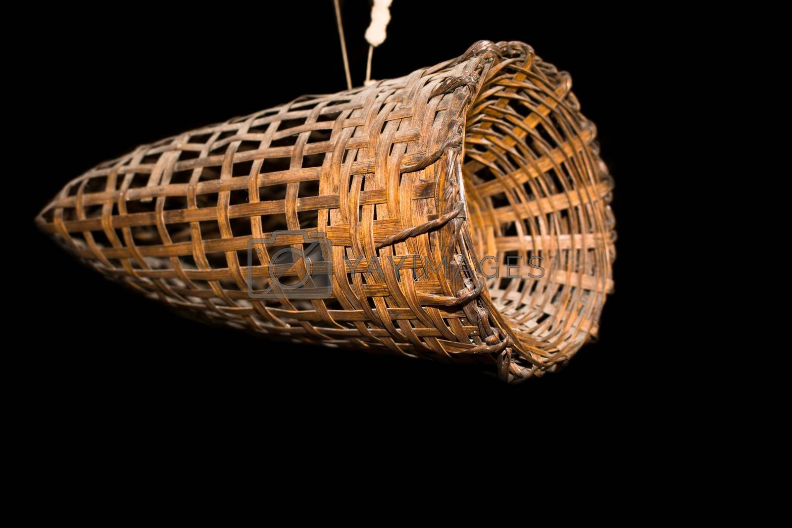 Frog trap, made of bamboo basket