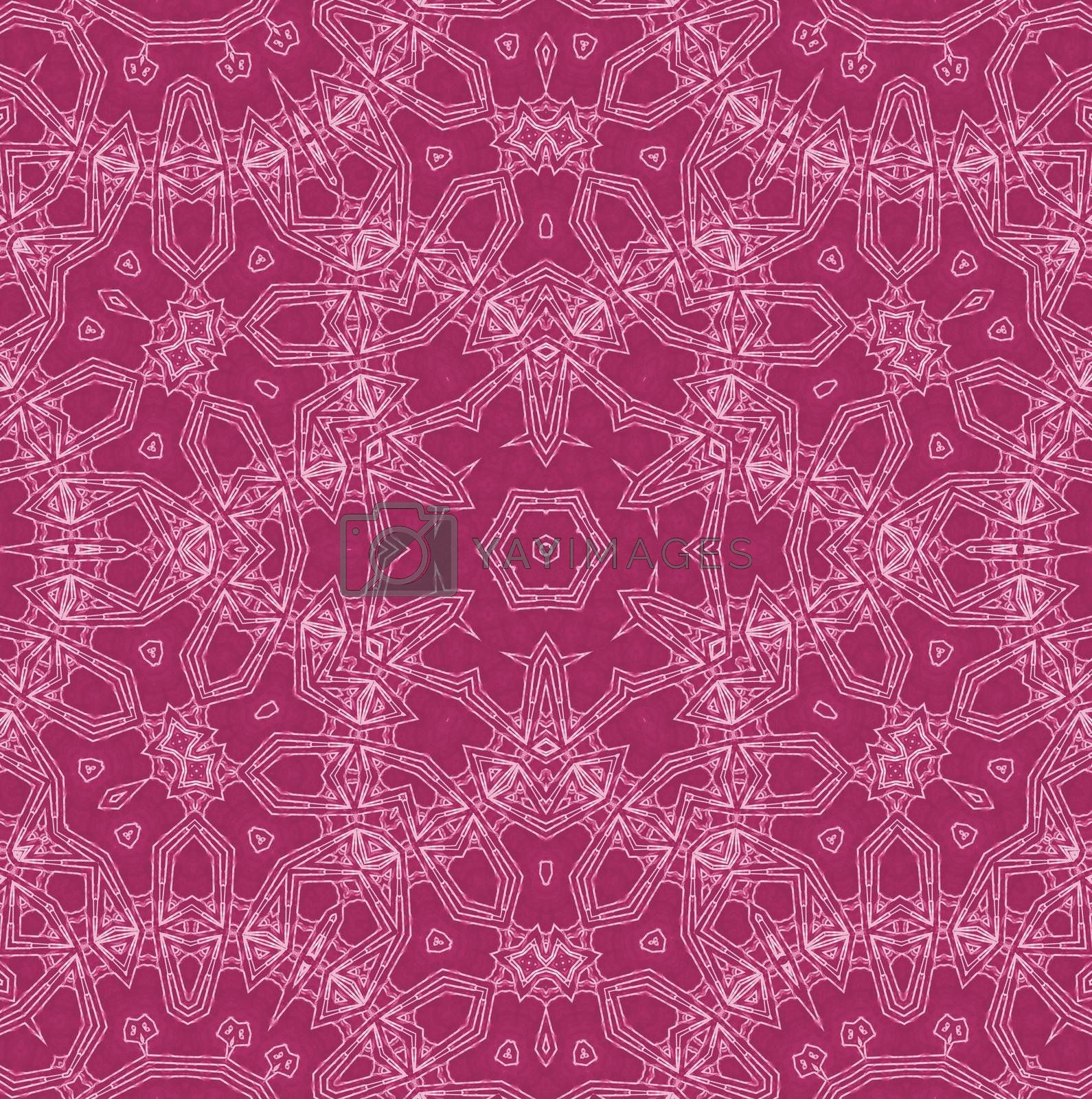 Abstract white pattern on crimson background