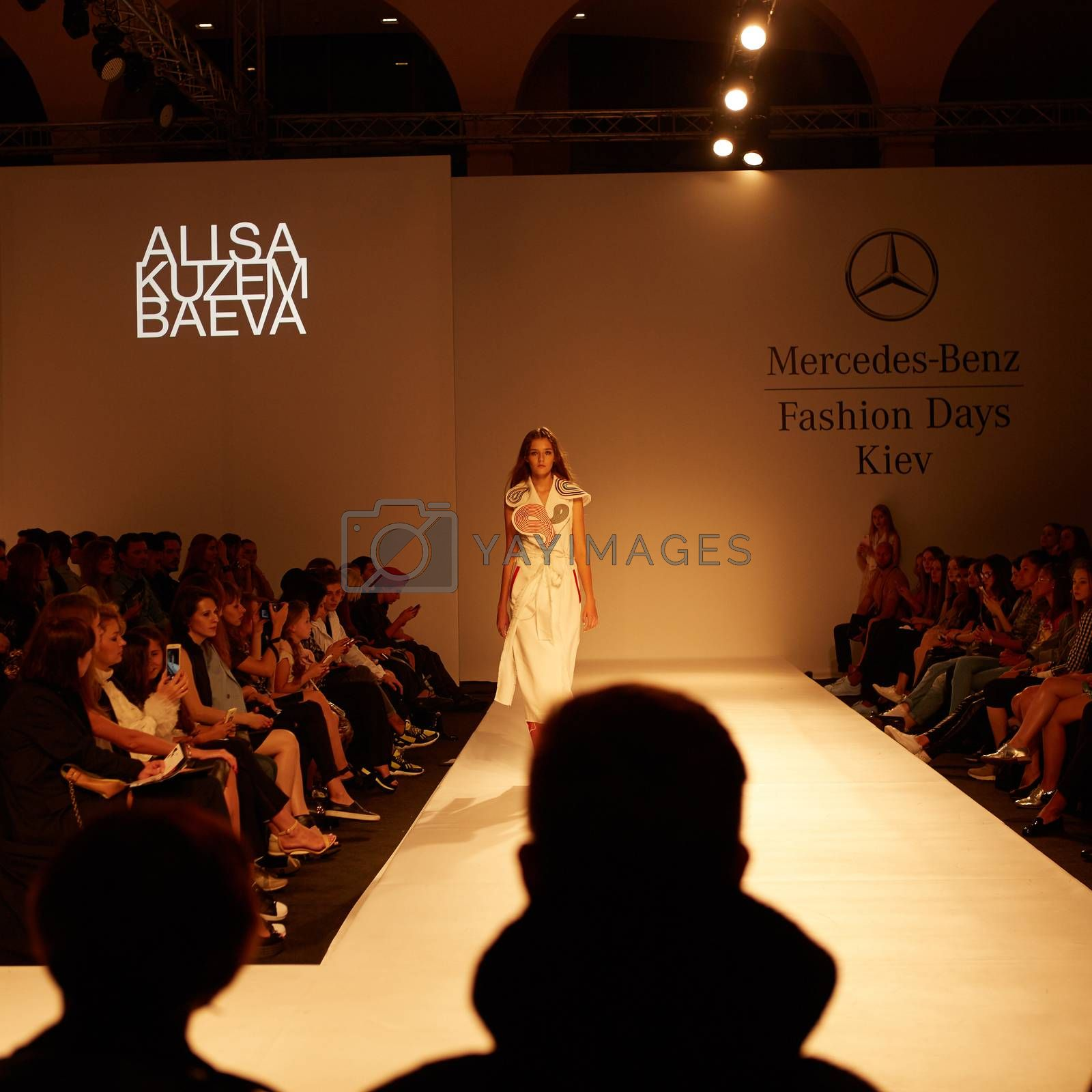 KIEV, UKRAINE - SEPTEMBER 6: Mercedes-Benz Kiev Fashion Days. Fashion show