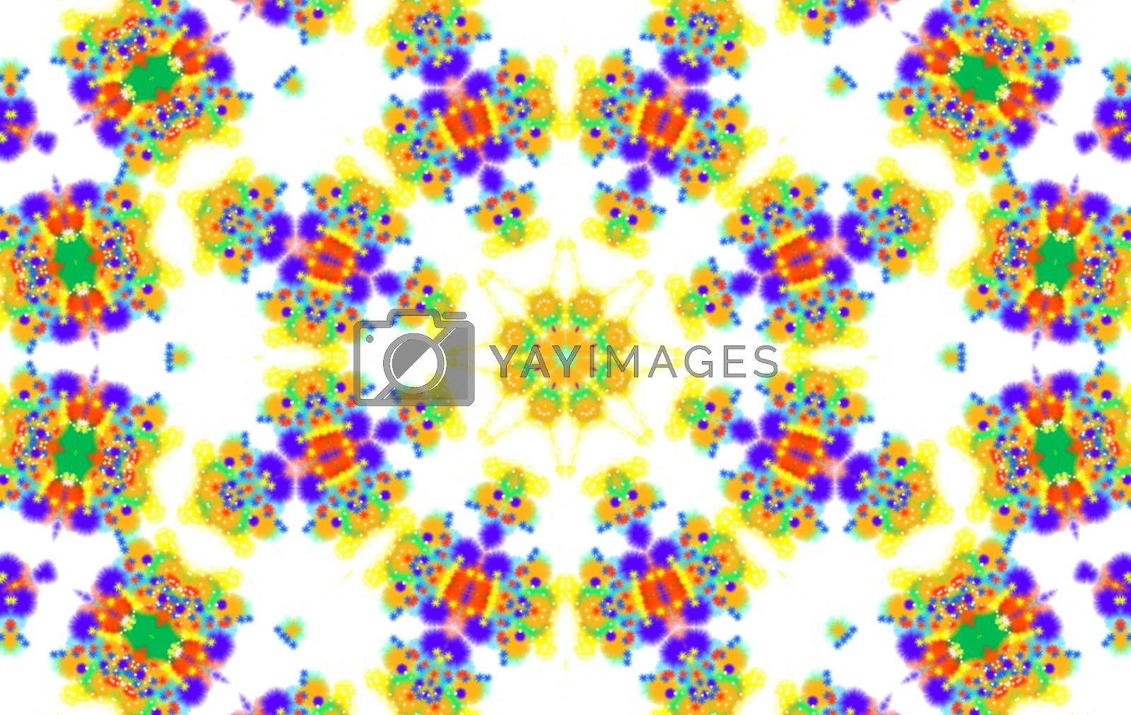 Background with abstract colorful concentric pattern