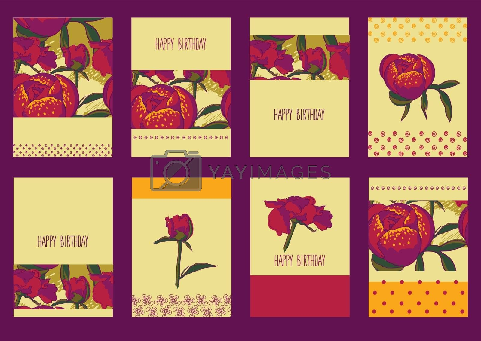 vector background Seamless floral background with peonies Vector decoration graphics, for greeting card