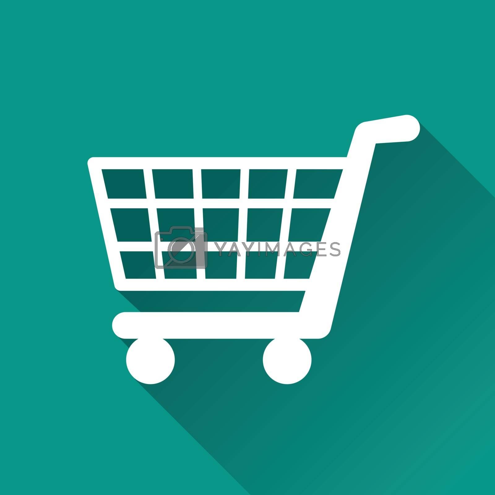 Royalty free image of shopping flat design icon by nickylarson974