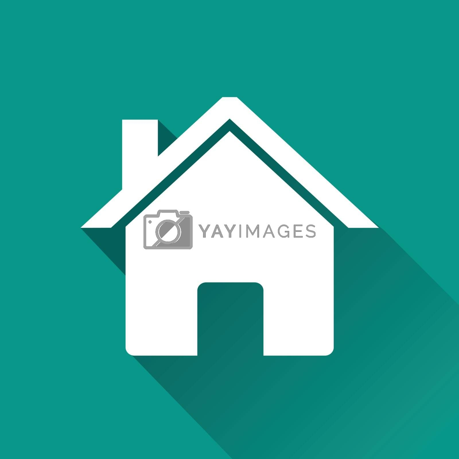Royalty free image of home flat design icon by nickylarson974