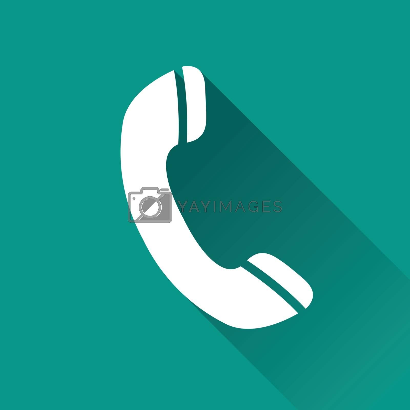 illustration of phone flat design icon isolated