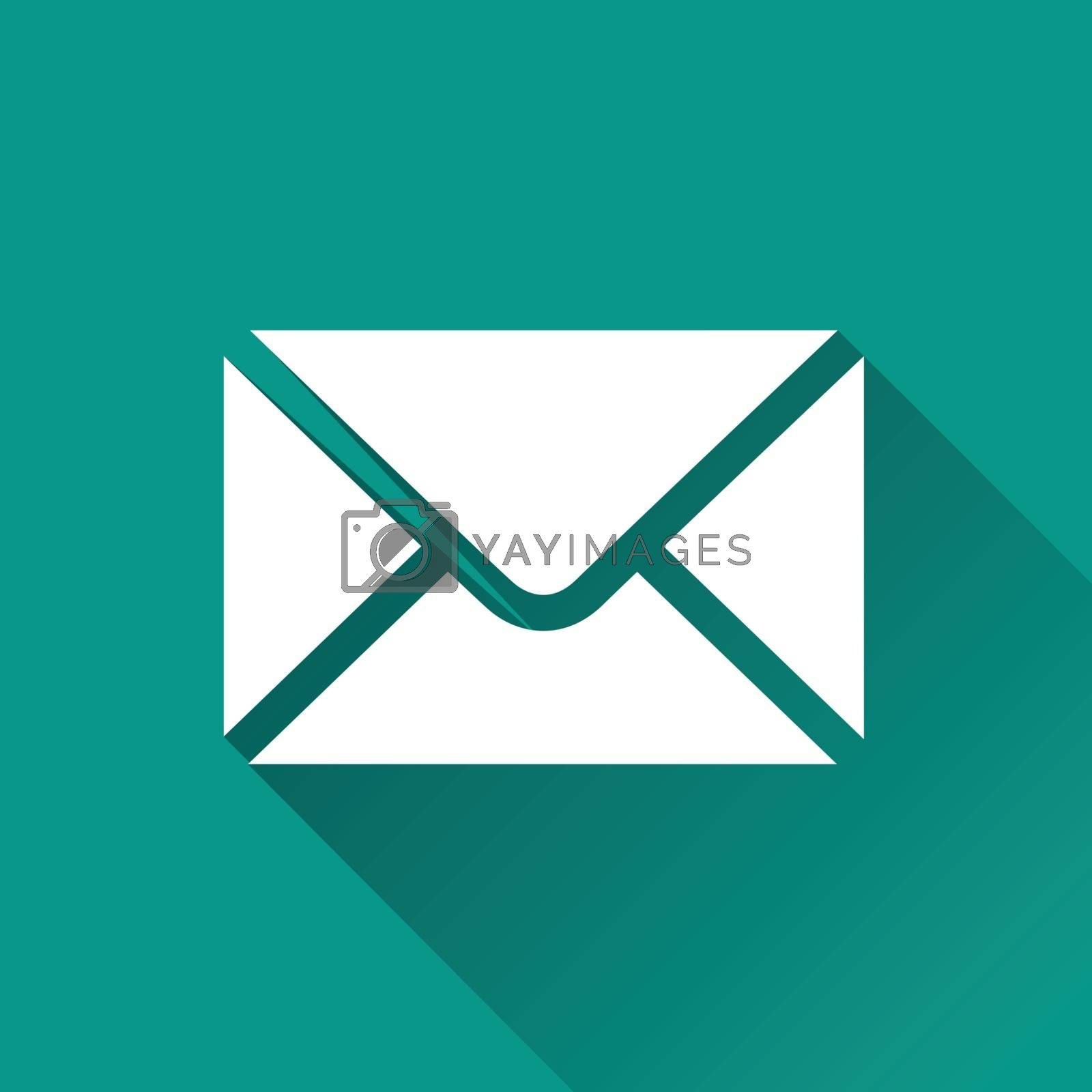 Royalty free image of envelope flat design icon by nickylarson974