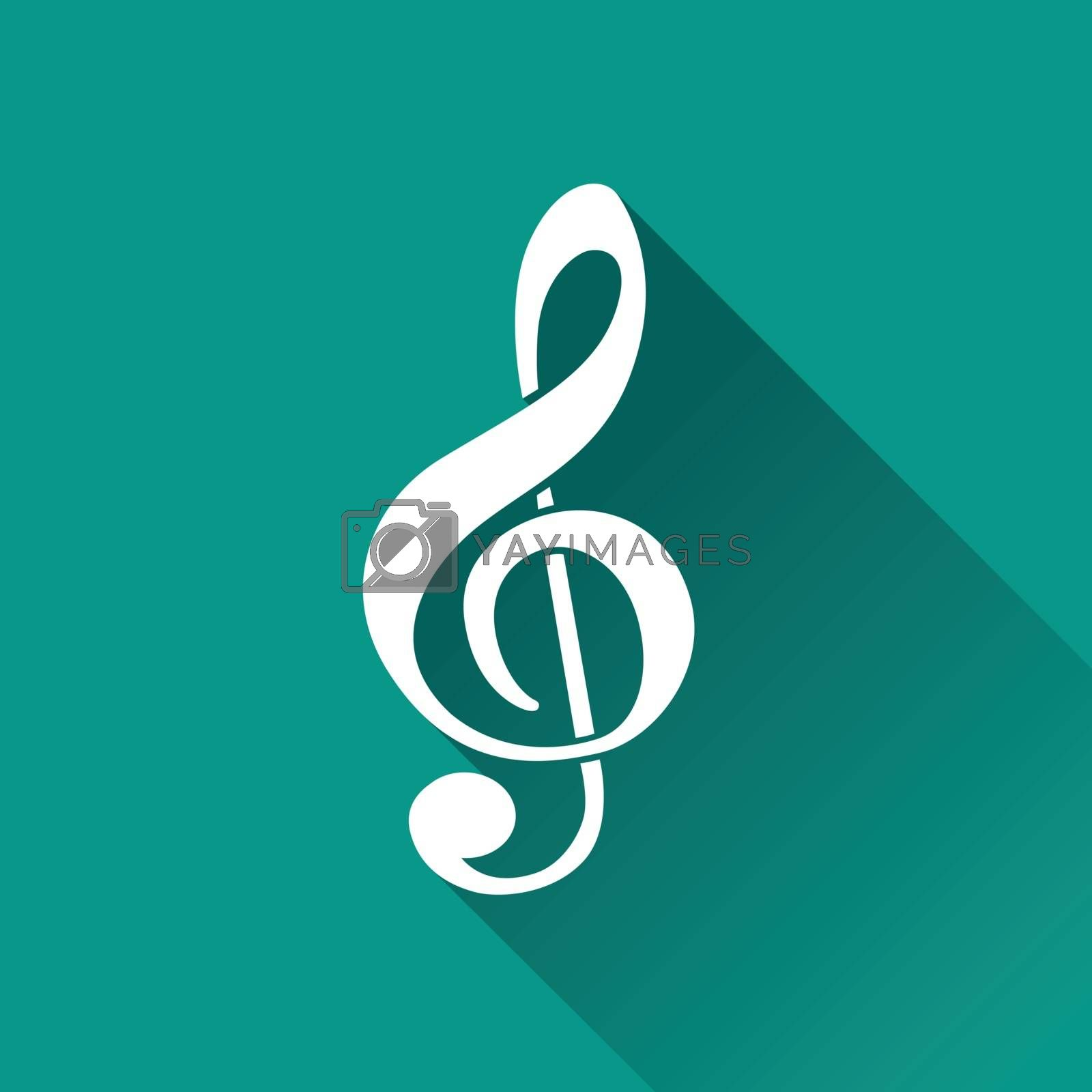 Royalty free image of music flat design icon by nickylarson974