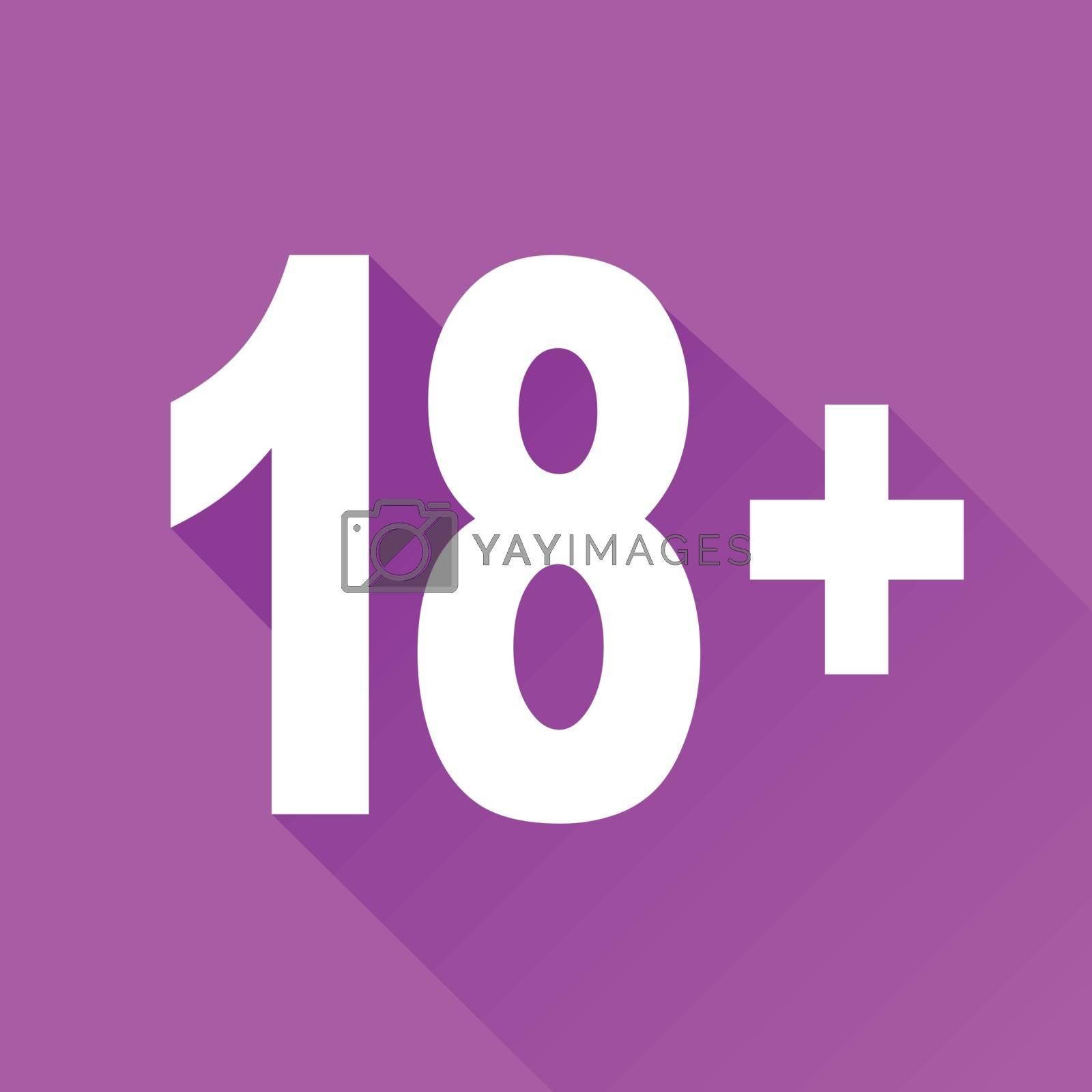 illustration of eighteen flat design icon isolated