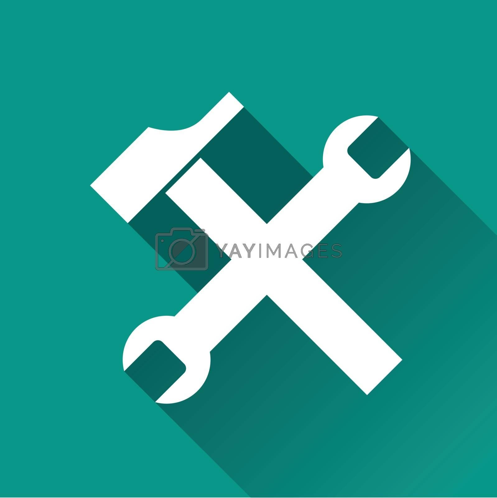 illustration of tools flat design icon isolated