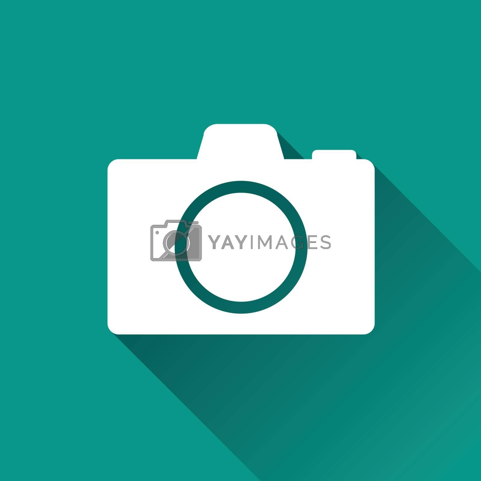illustration of camera flat design icon isolated