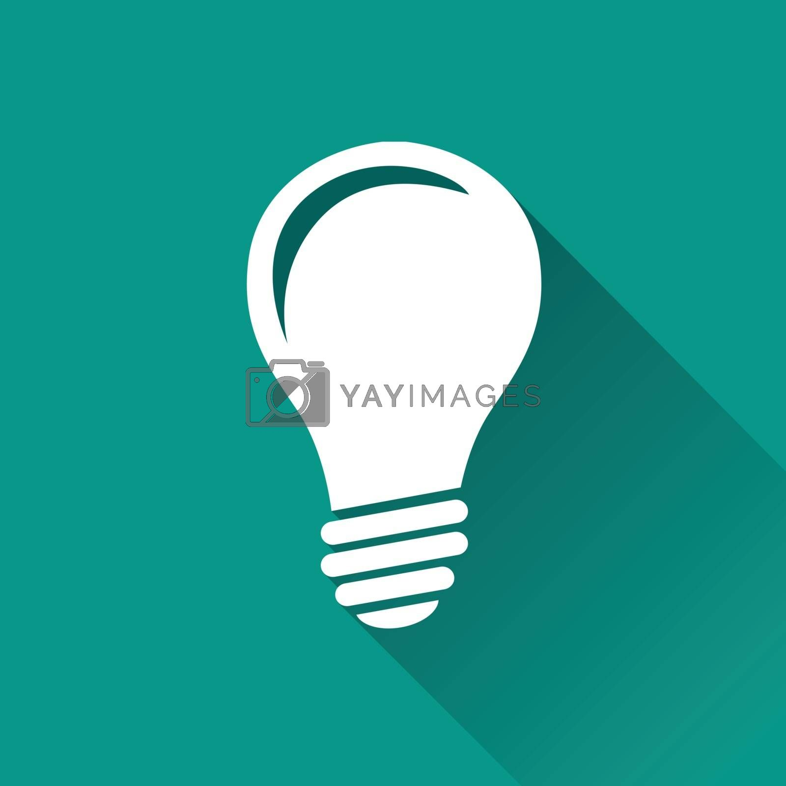 Royalty free image of lightbulb flat design icon by nickylarson974