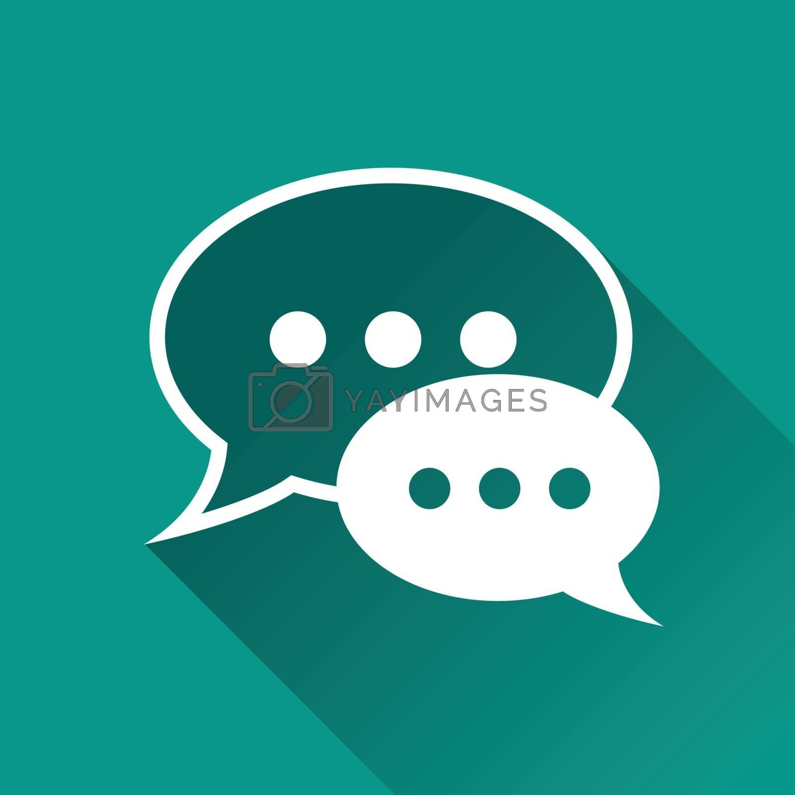 illustration of chat bubbles flat design icon
