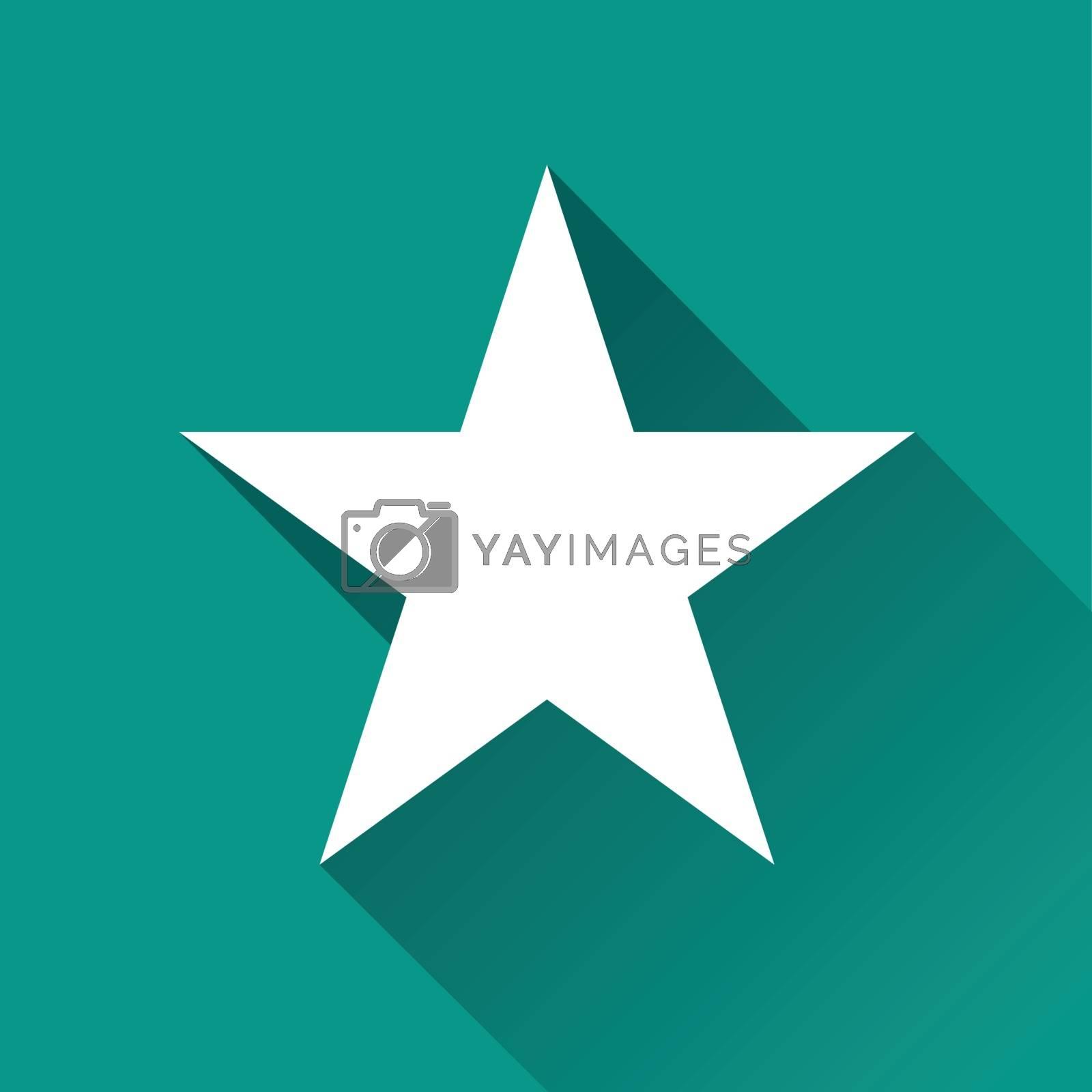 illustration of star flat design icon isolated
