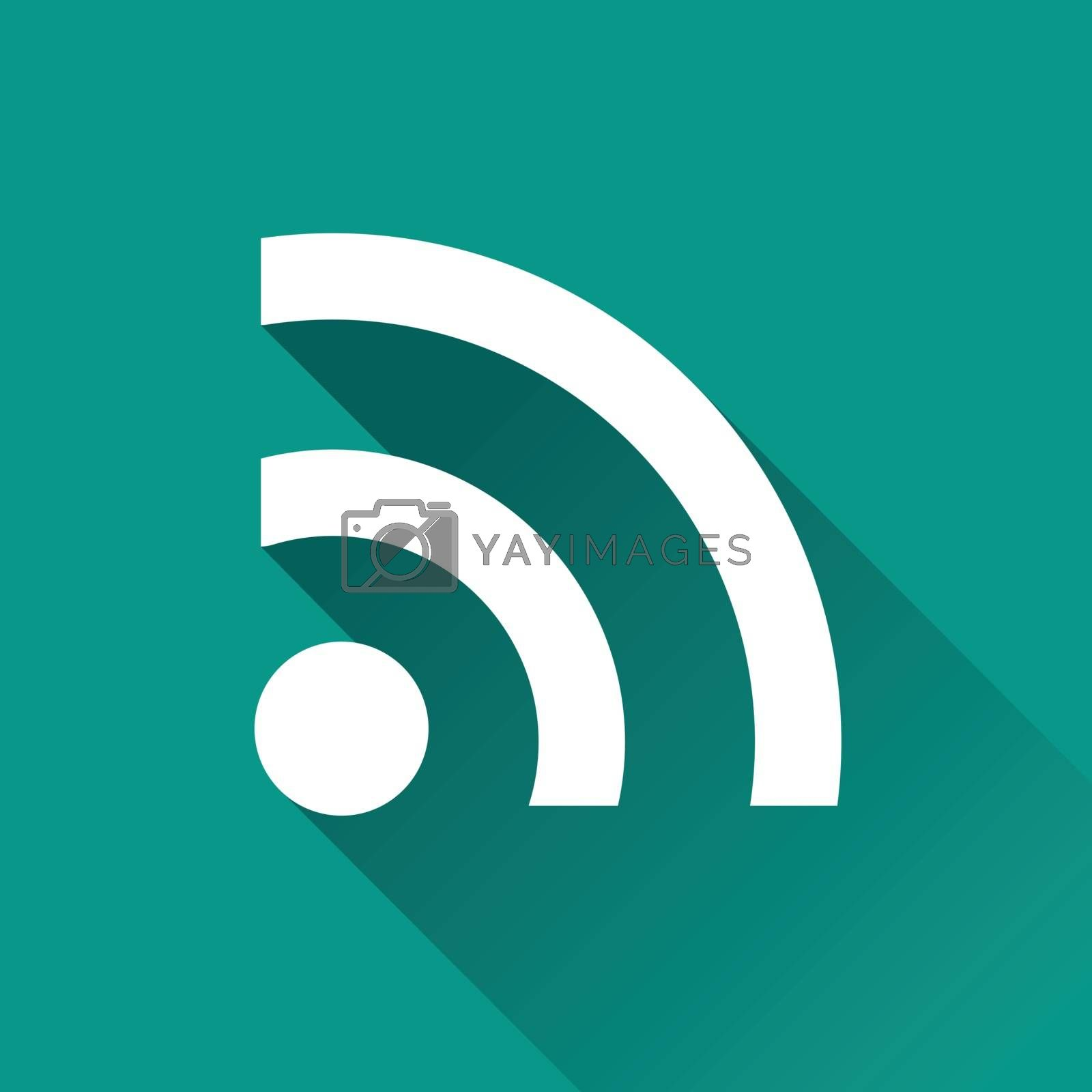 Royalty free image of wifi signal flat design icon by nickylarson974