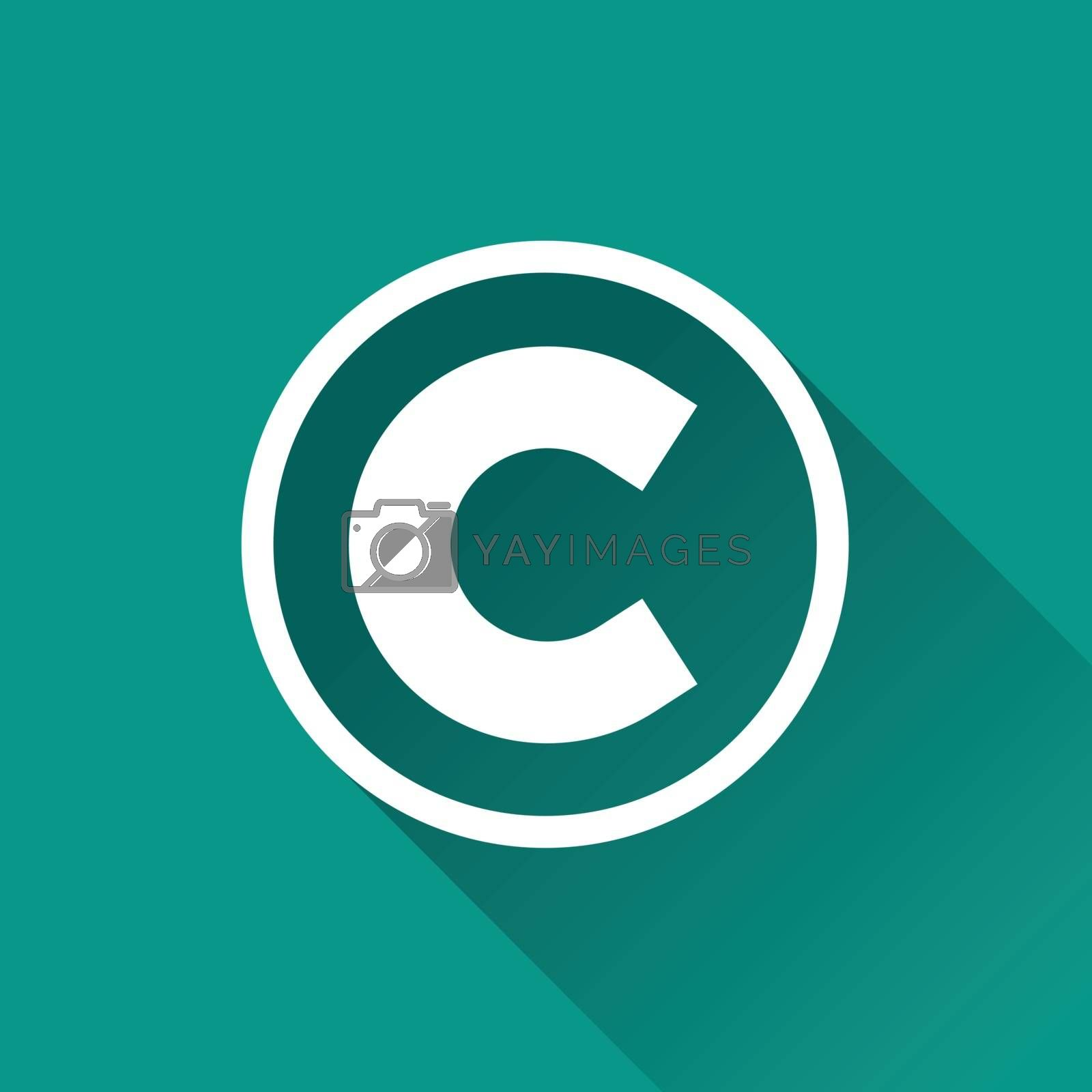 Royalty free image of copyright flat design icon by nickylarson974