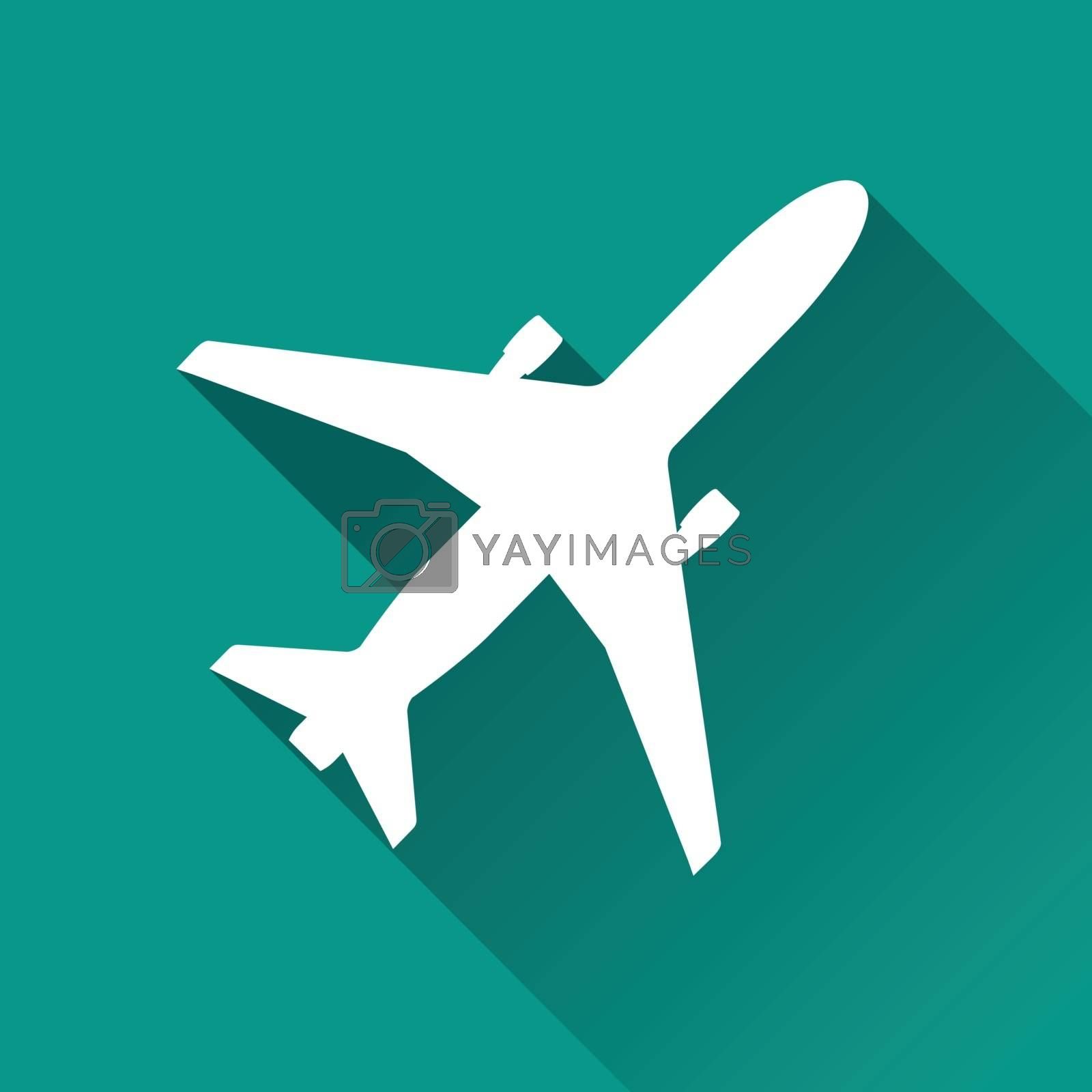 Royalty free image of aircraft flat design icon by nickylarson974