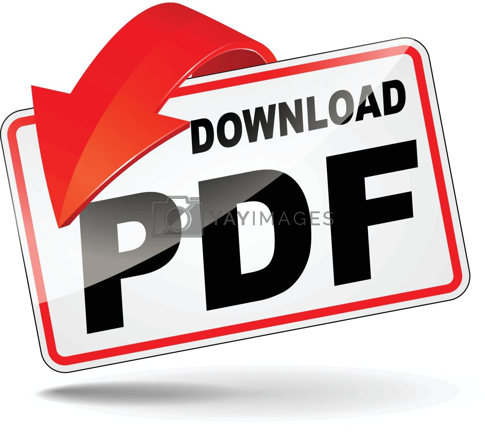 Royalty free image of pdf download icon by nickylarson974