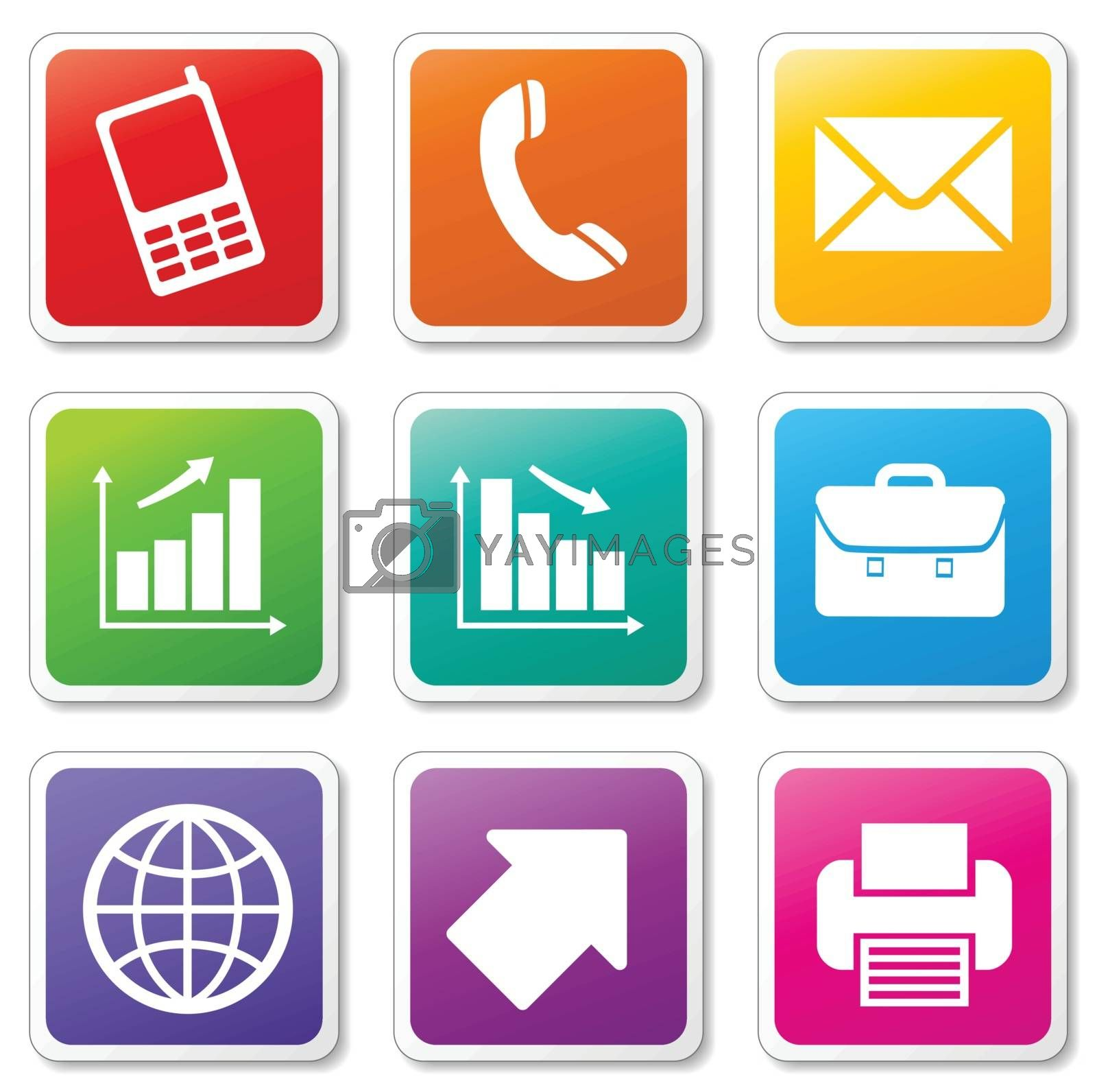 business set icons by nickylarson974