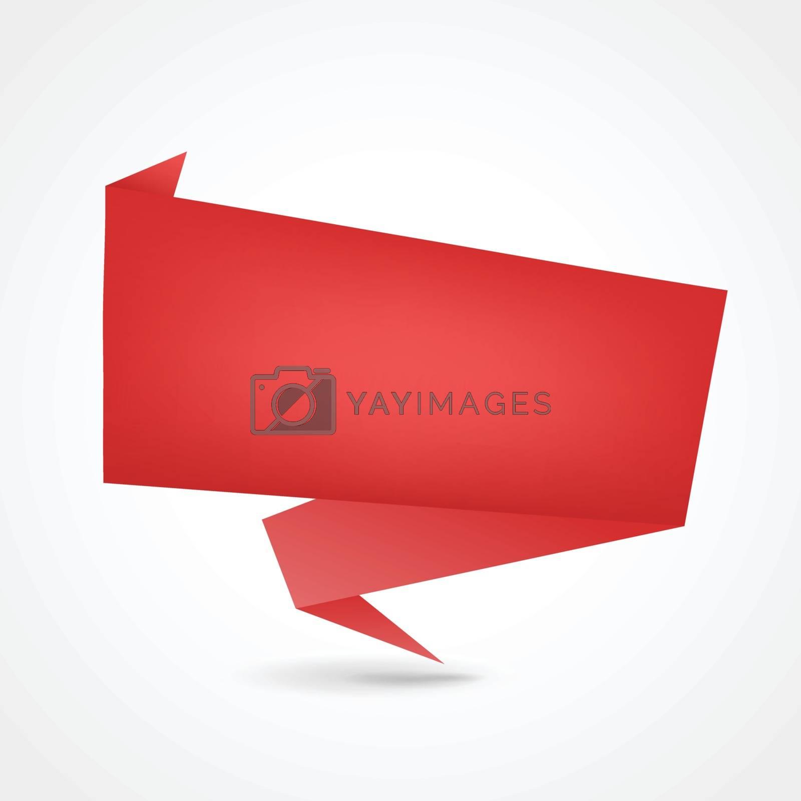 illustration of red origami design concept background