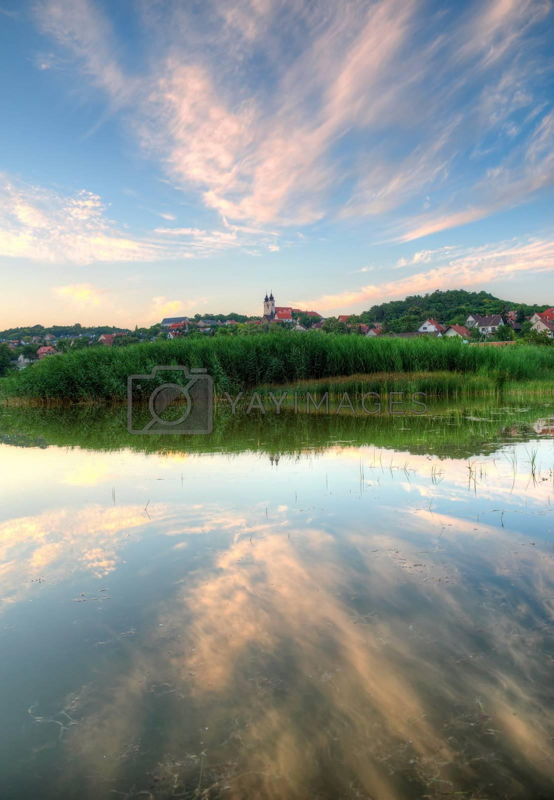 Royalty free image of Tihany abbey in Hungary at lake Balaton by anderm