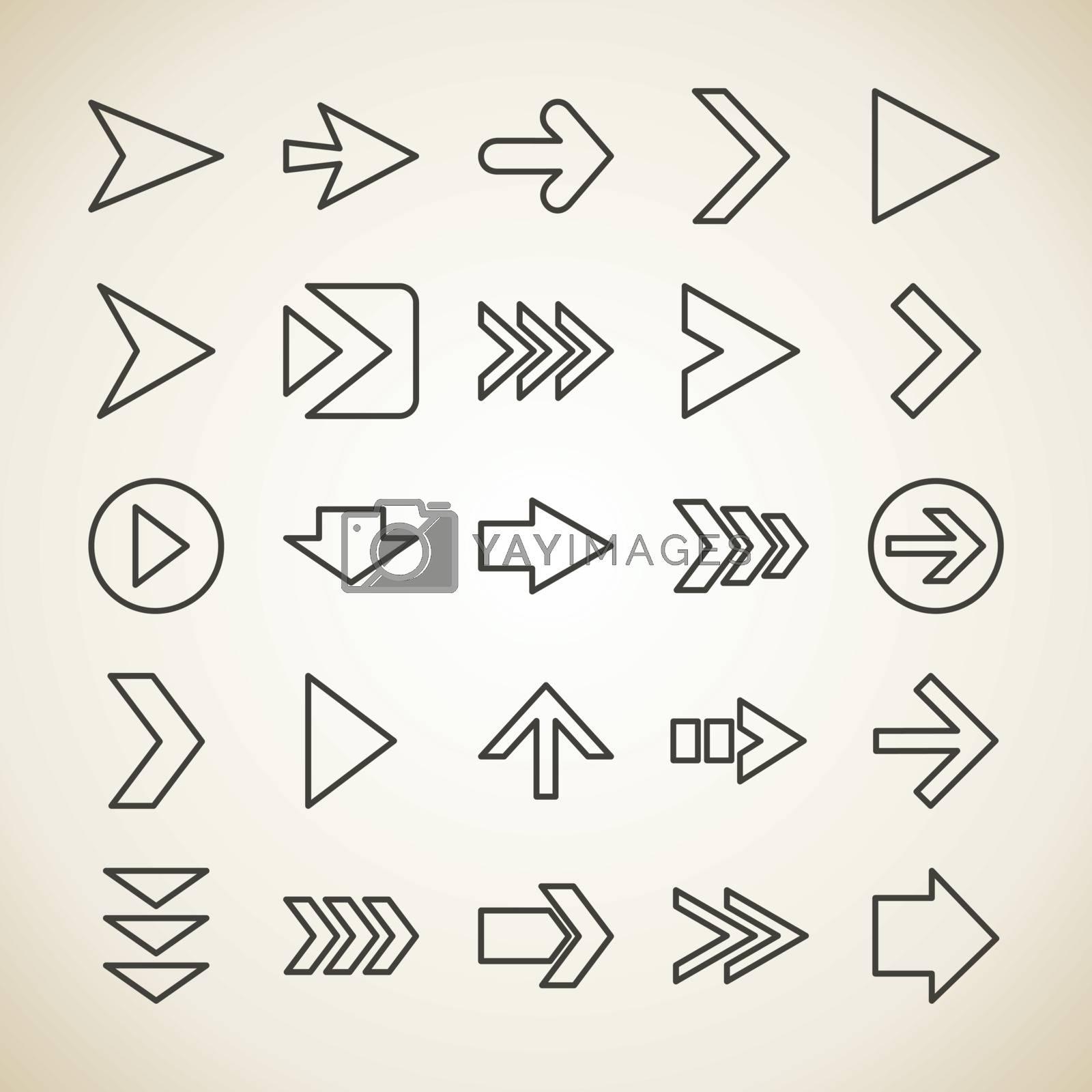 Arrow outline by aleksander1