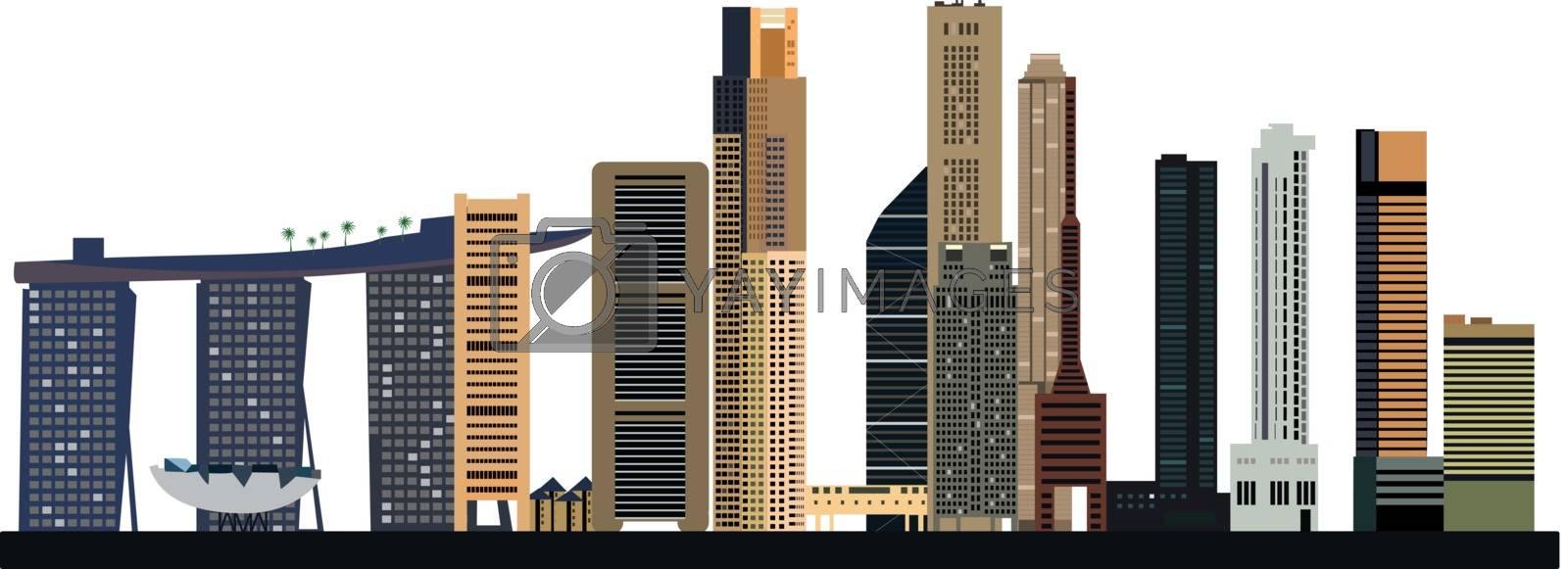 singapore city skyline by compuinfoto