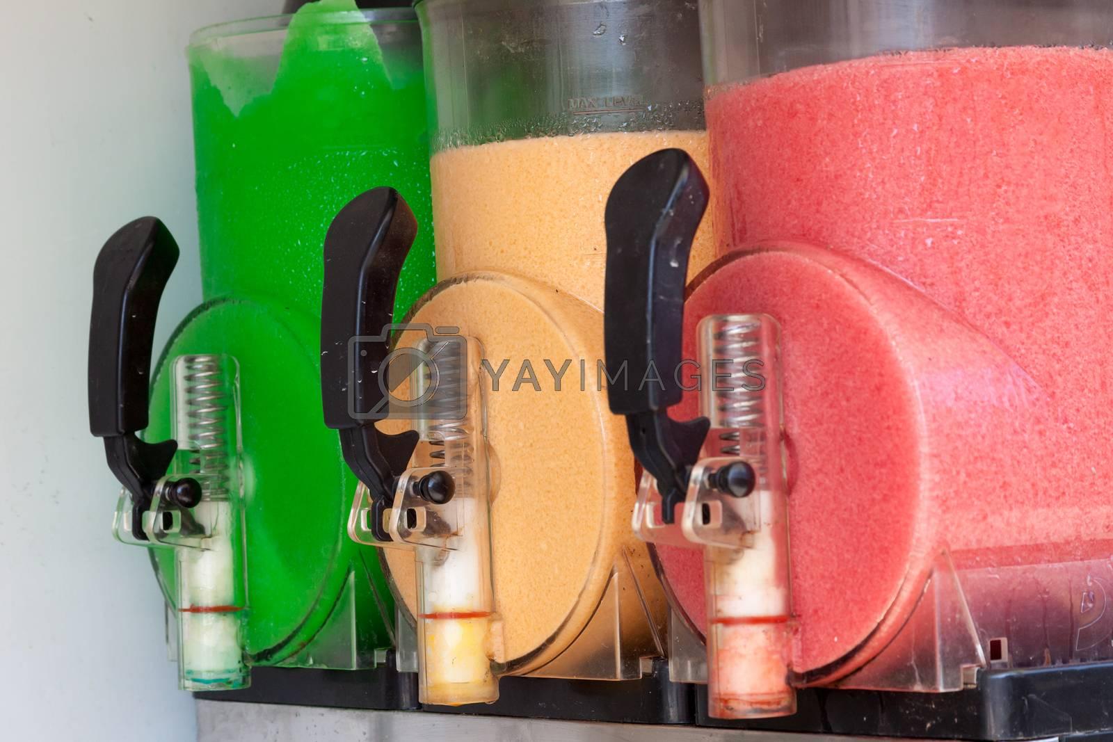 The beautiful machine gun doing the different frozen drinks