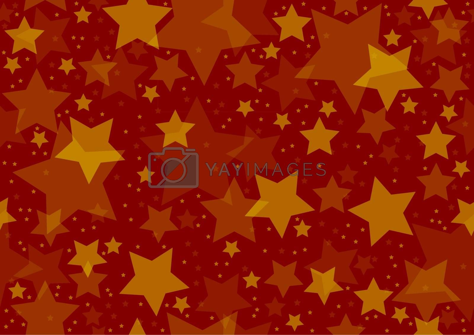 Stars Texture - Repetitive Background Illustration, Vector