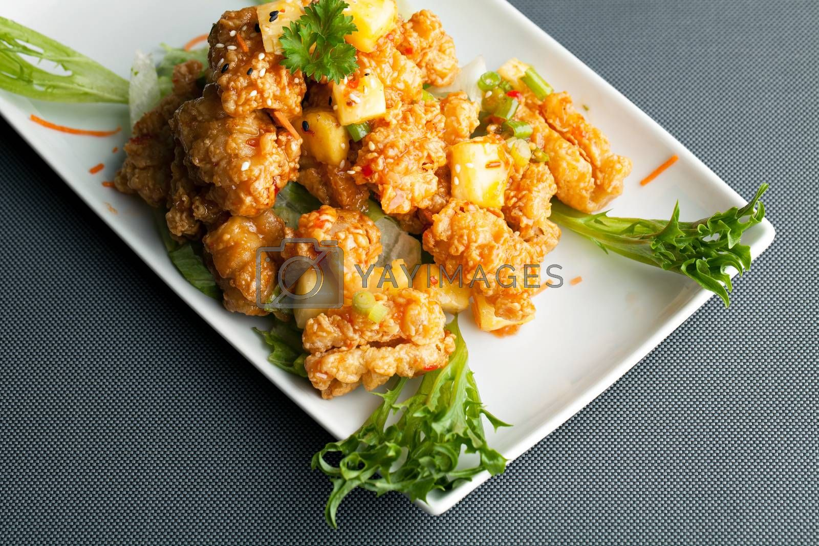 Thai Pineapple Fried Calamari by graficallyminded