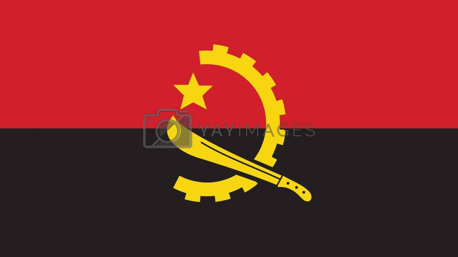 Angola Flag for Independence Day and infographic Vector illustration.