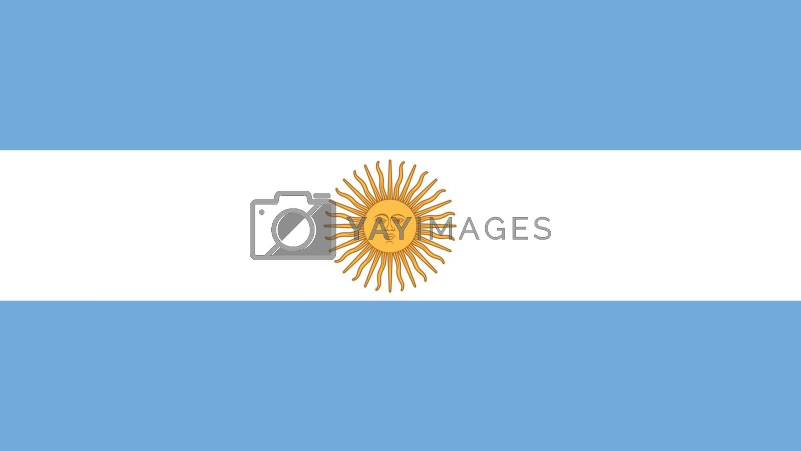 argentina Flag for Independence Day and infographic Vector illustration.
