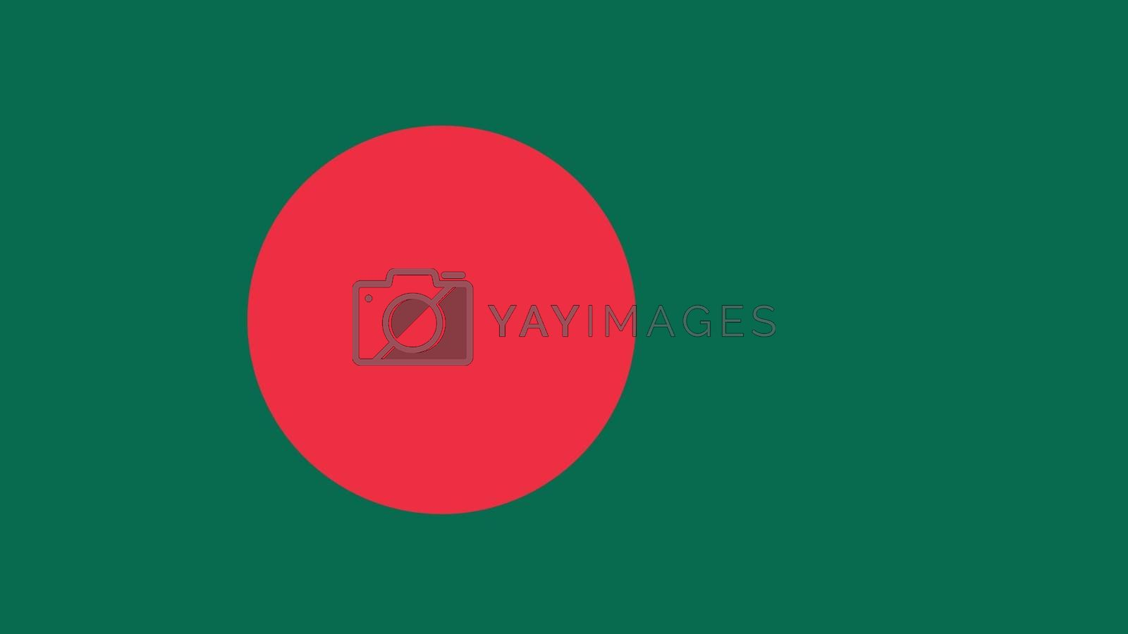 bangladesh Flag for Independence Day and infographic Vector illustration.
