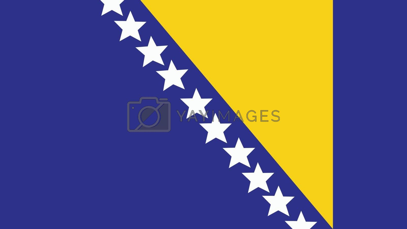 bosnia and herzegovina Flag for Independence Day and infographic Vector illustration.