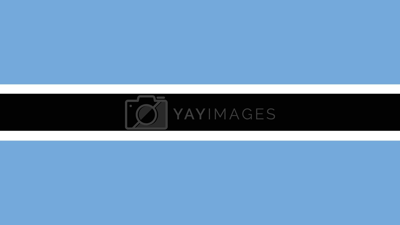 botswana Flag for Independence Day and infographic Vector illustration.