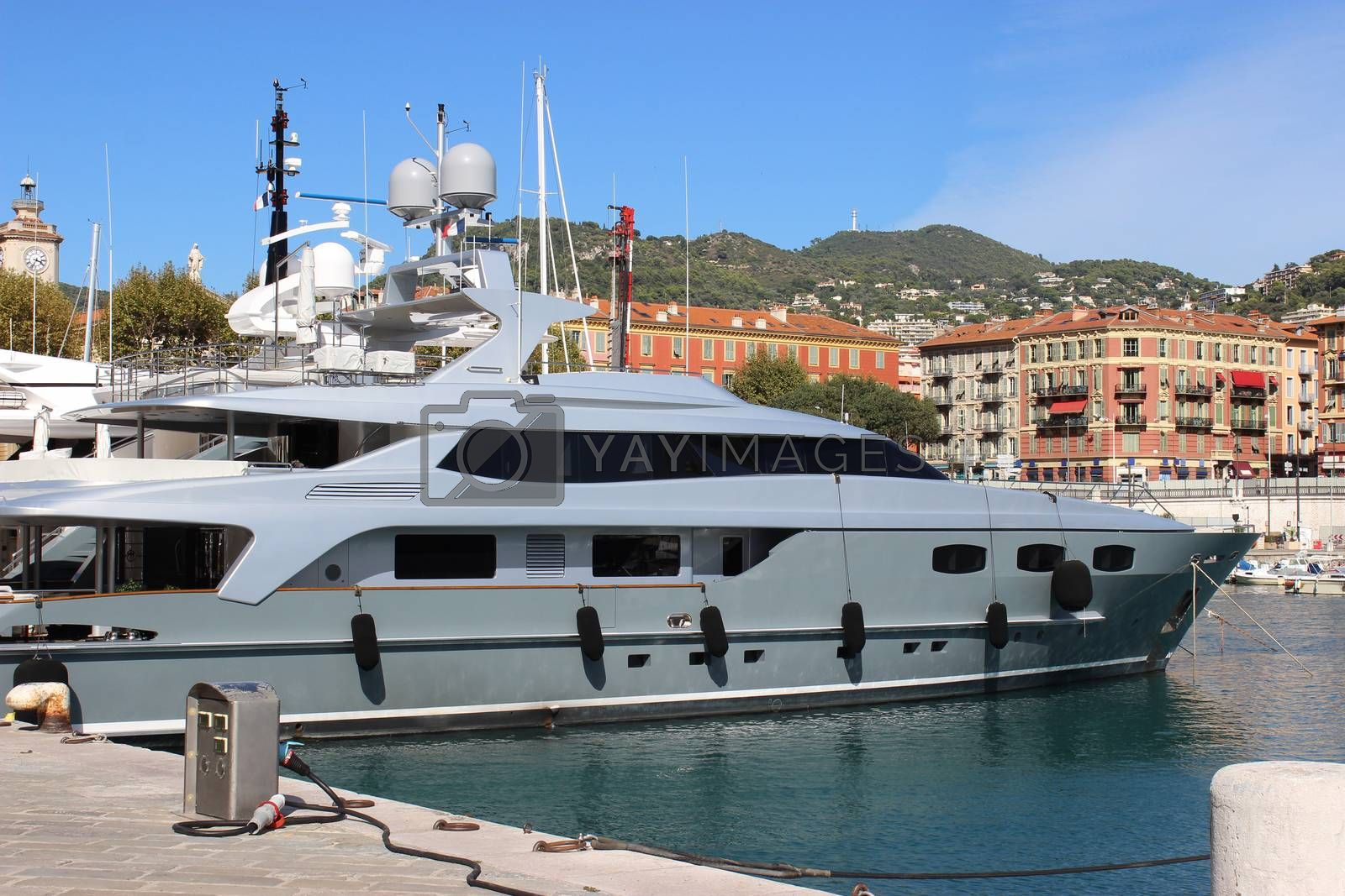 Royalty free image of Luxury Yacht in the port of Nice, France by bensib