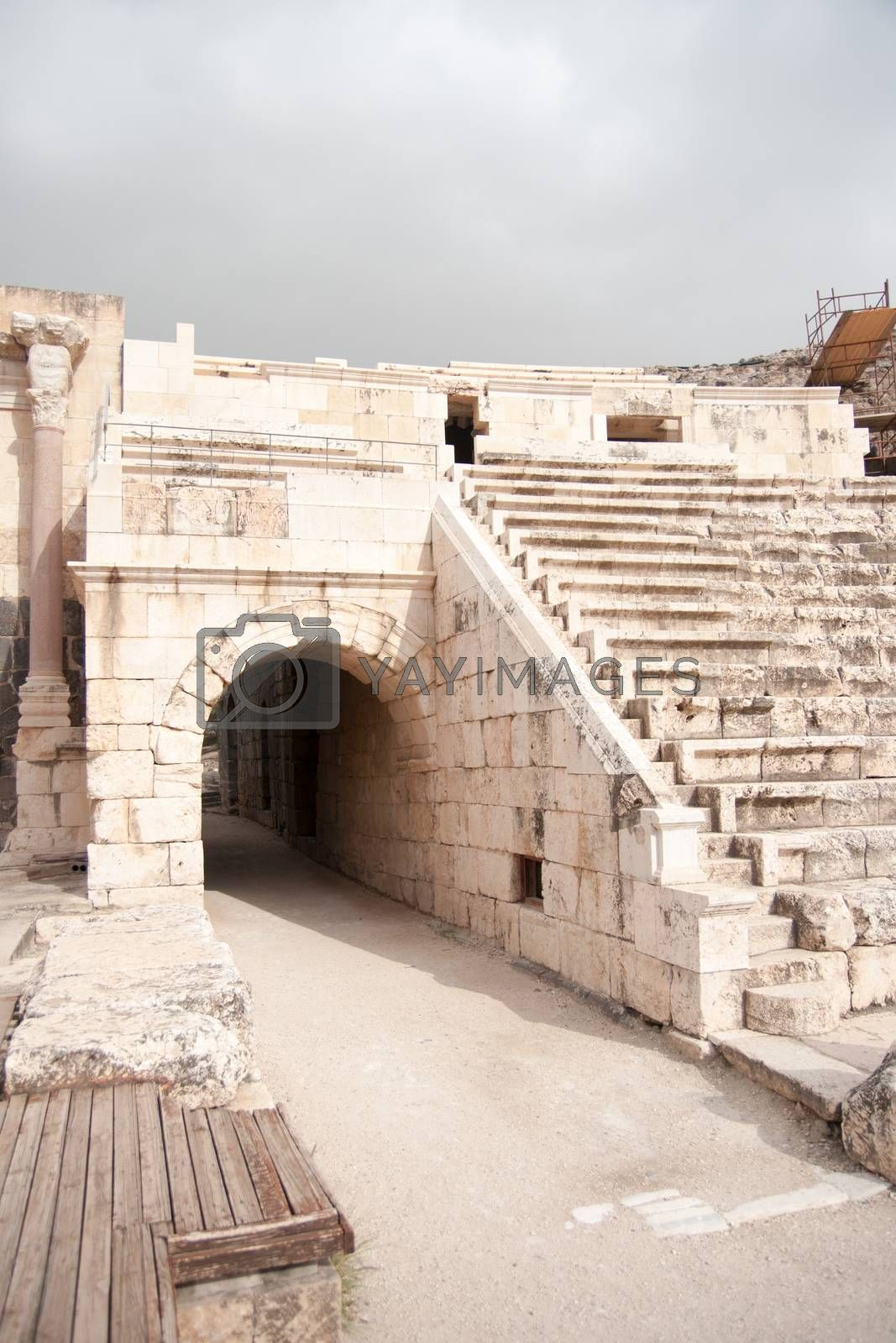 National park with ruins for tourists attraction
