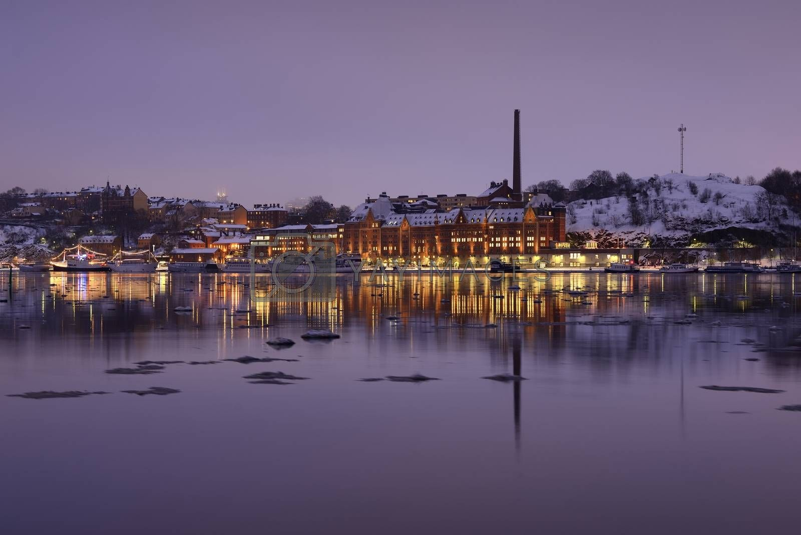 The southern part of Stockholm one early winter morning.