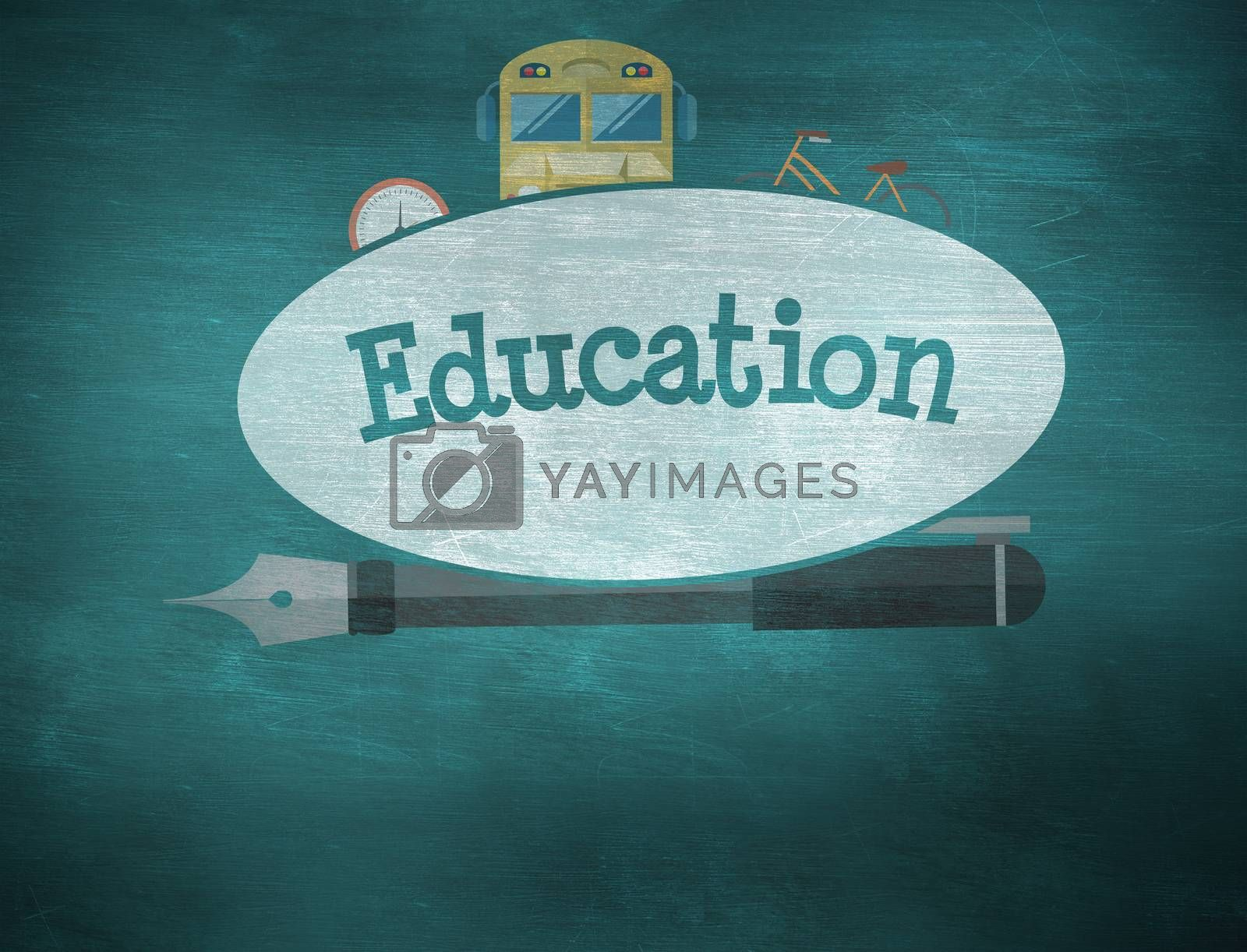 Education against green chalkboard by Wavebreakmedia