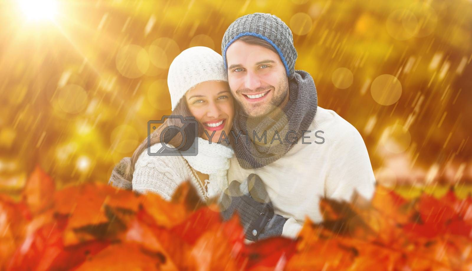 Composite image of young winter couple by Wavebreakmedia