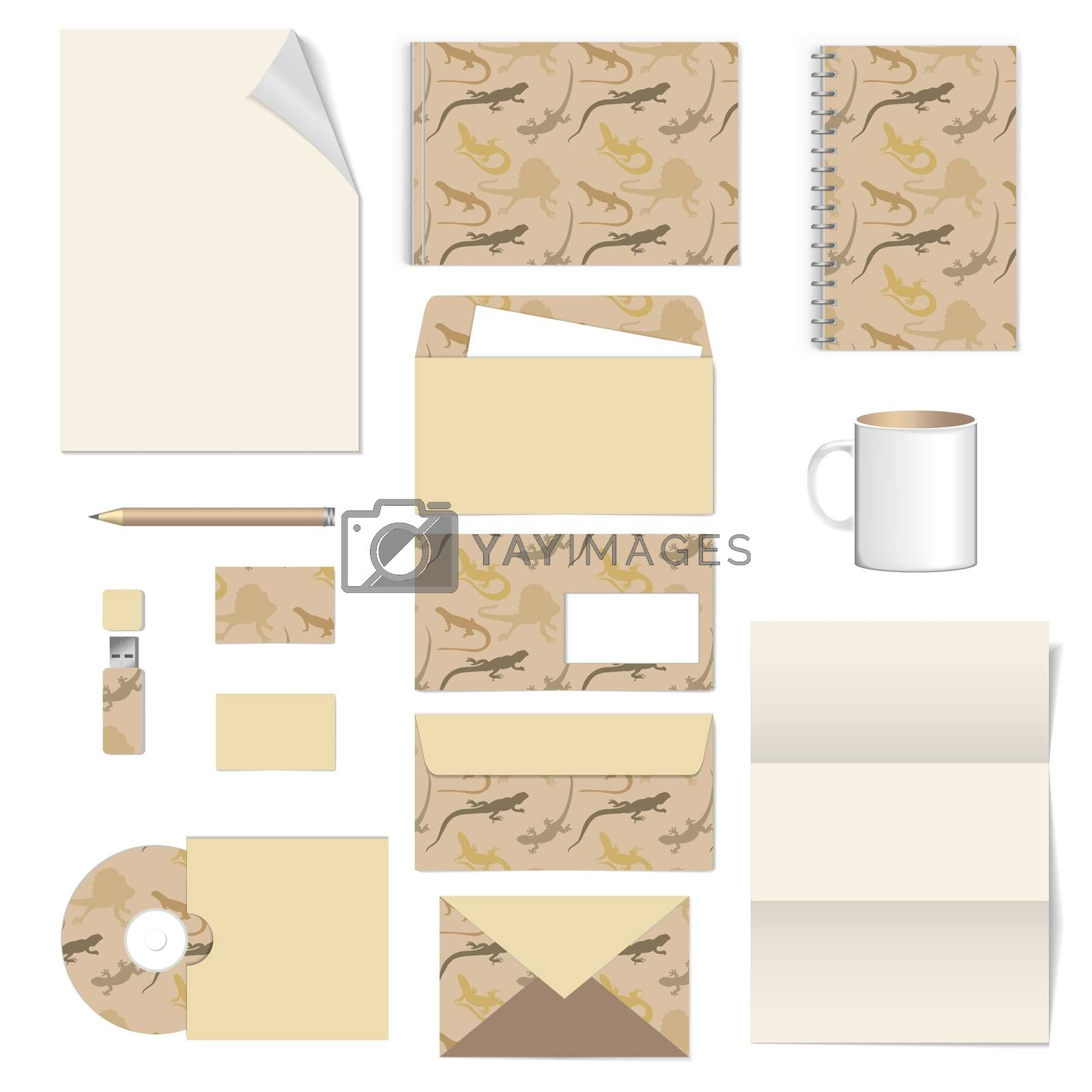 corporate identity. stationery template design. Documentation for business. Vector illustration
