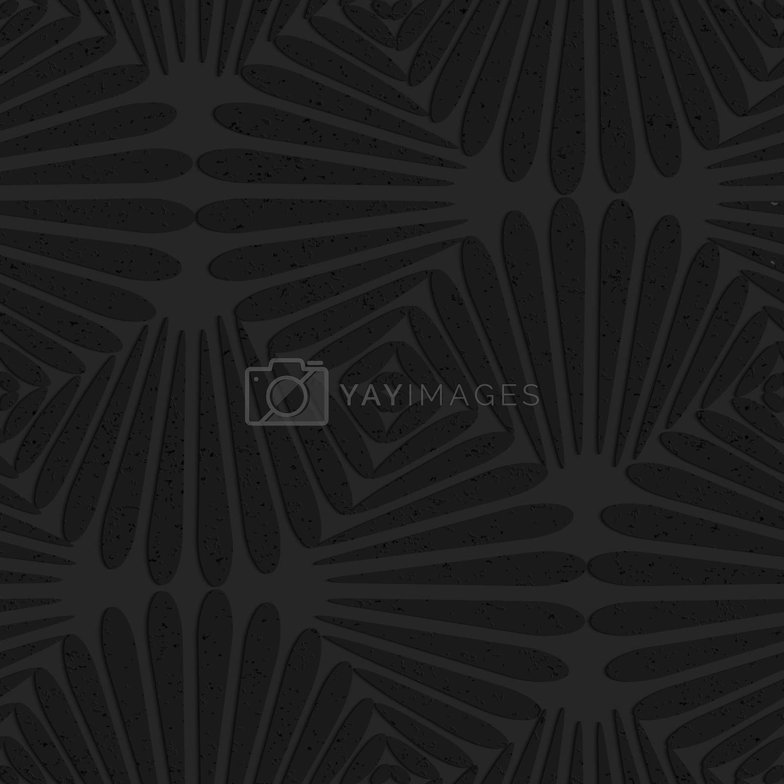 Seamless geometric background. Pattern with 3D texture and realistic shadow.Textured black plastic pedals pin will.