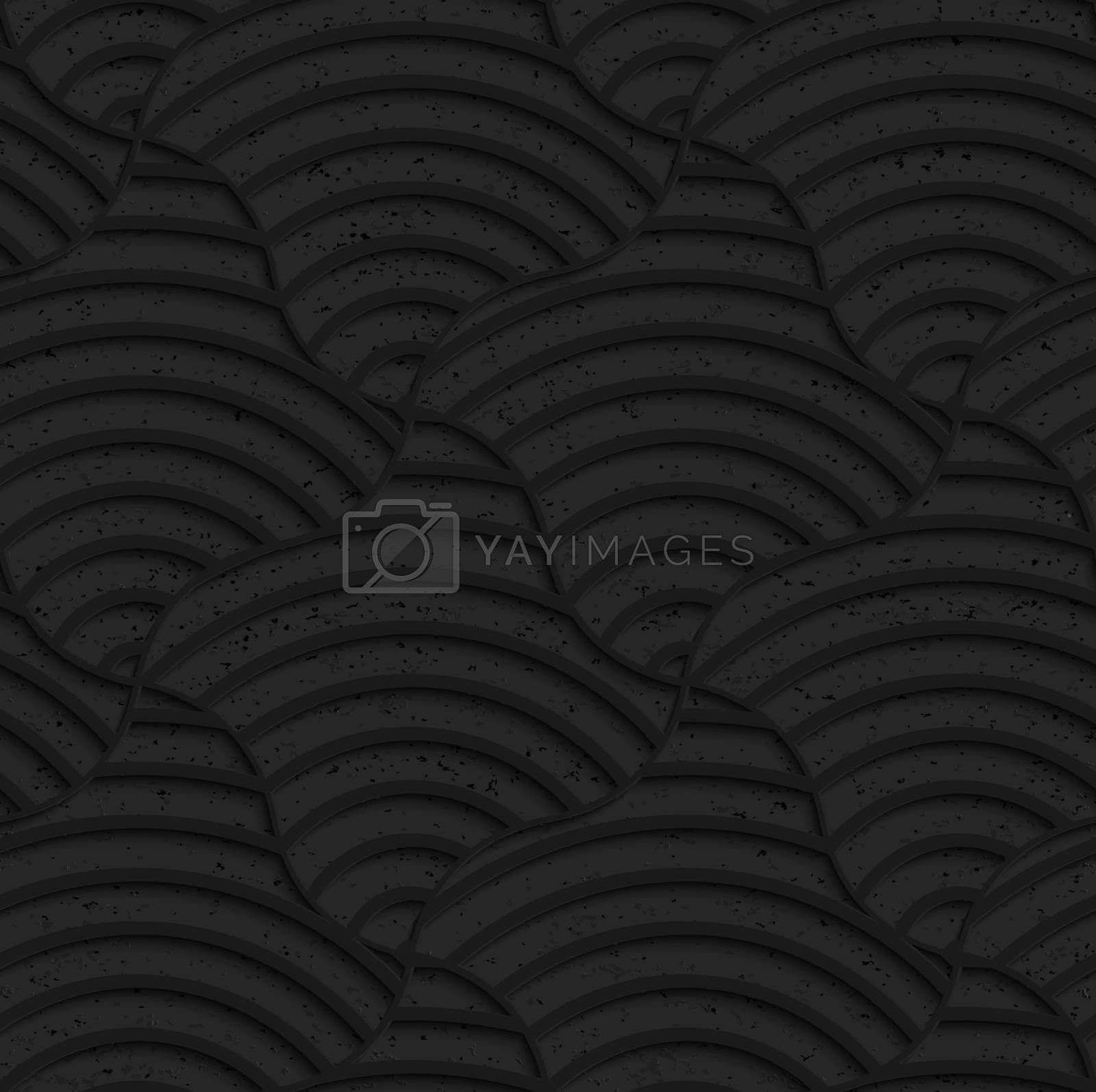 Seamless geometric background. Pattern with 3D texture and realistic shadow.Textured black plastic striped pillows.