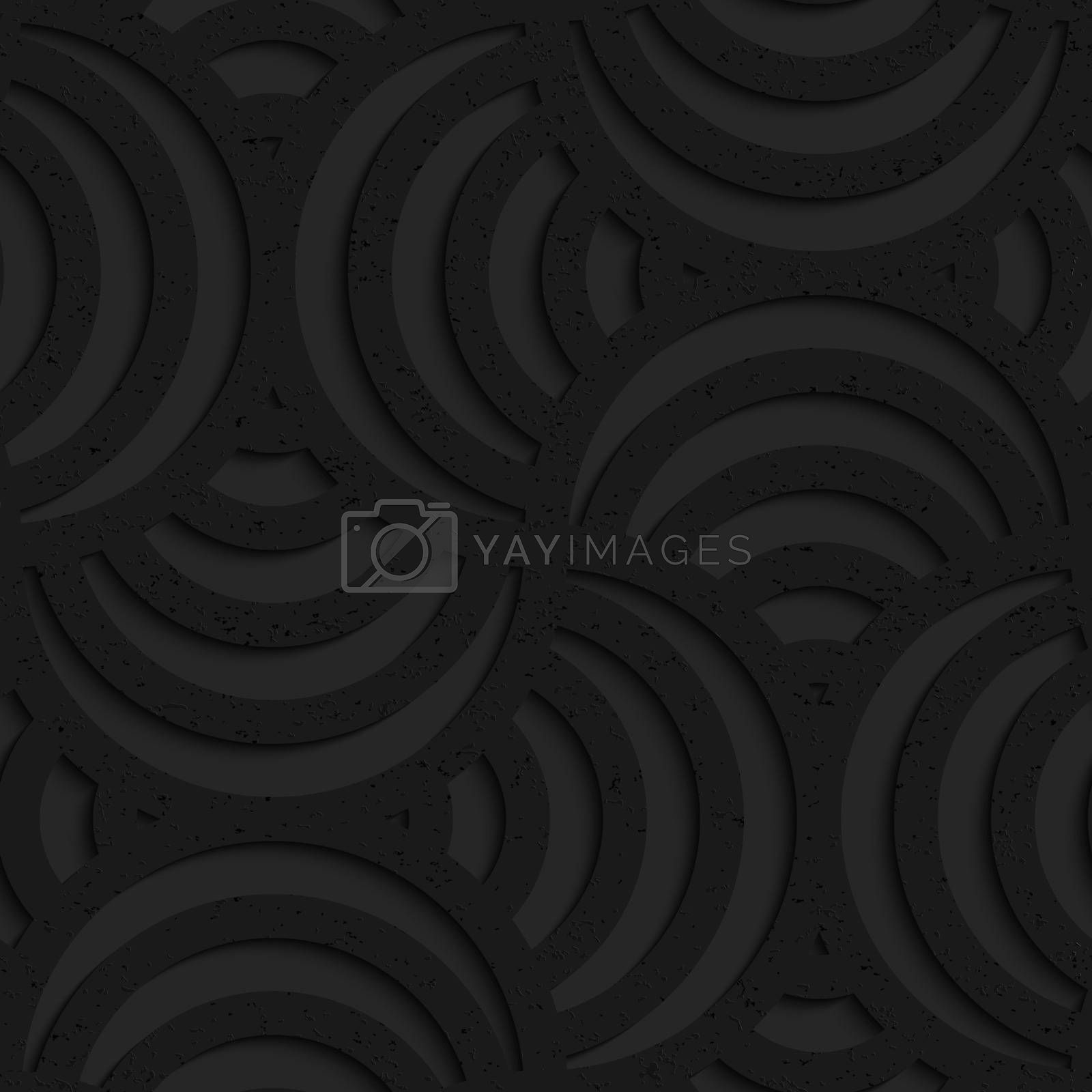 Seamless geometric background. Pattern with 3D texture and realistic shadow.Textured black plastic striped pin will.