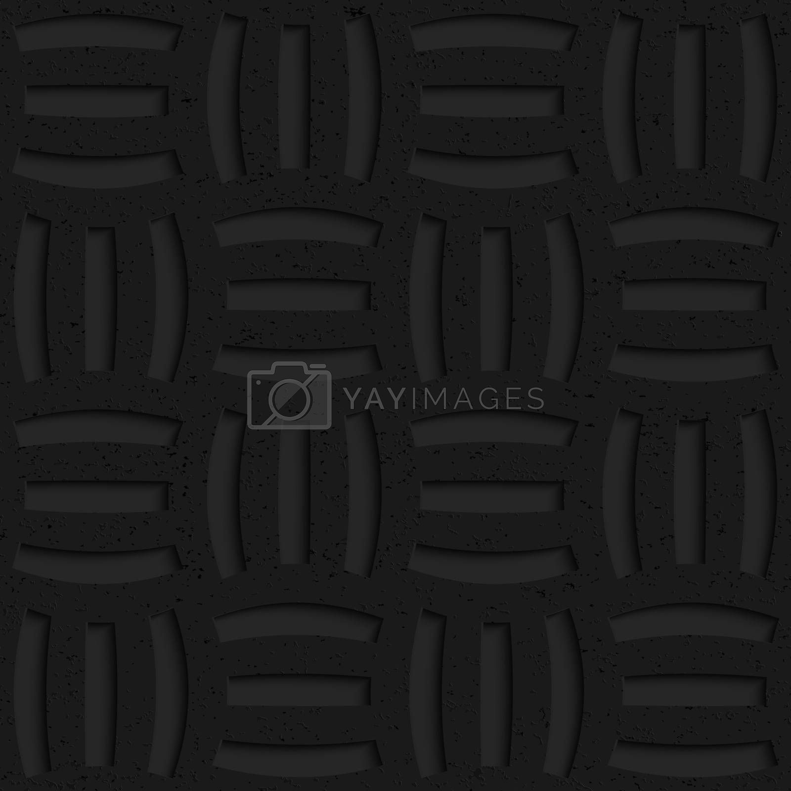 Seamless geometric background. Pattern with 3D texture and realistic shadow.Textured black plastic three holes pin will.