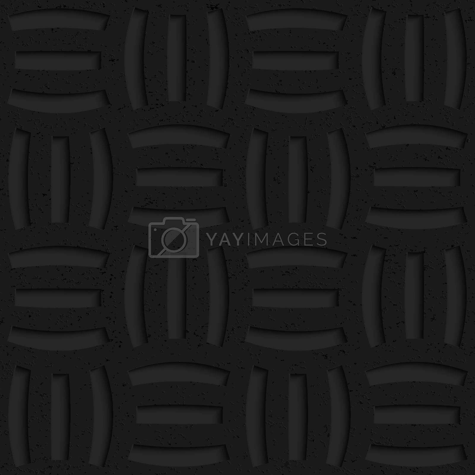Textured black plastic three holes pin will by Zebra-Finch