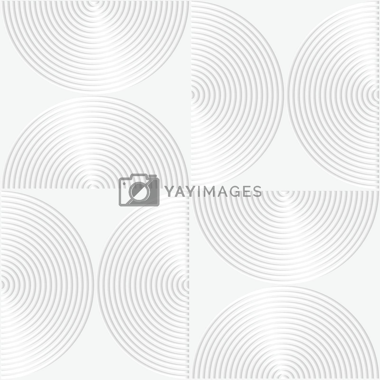 White paper 3D striped semi circles by Zebra-Finch
