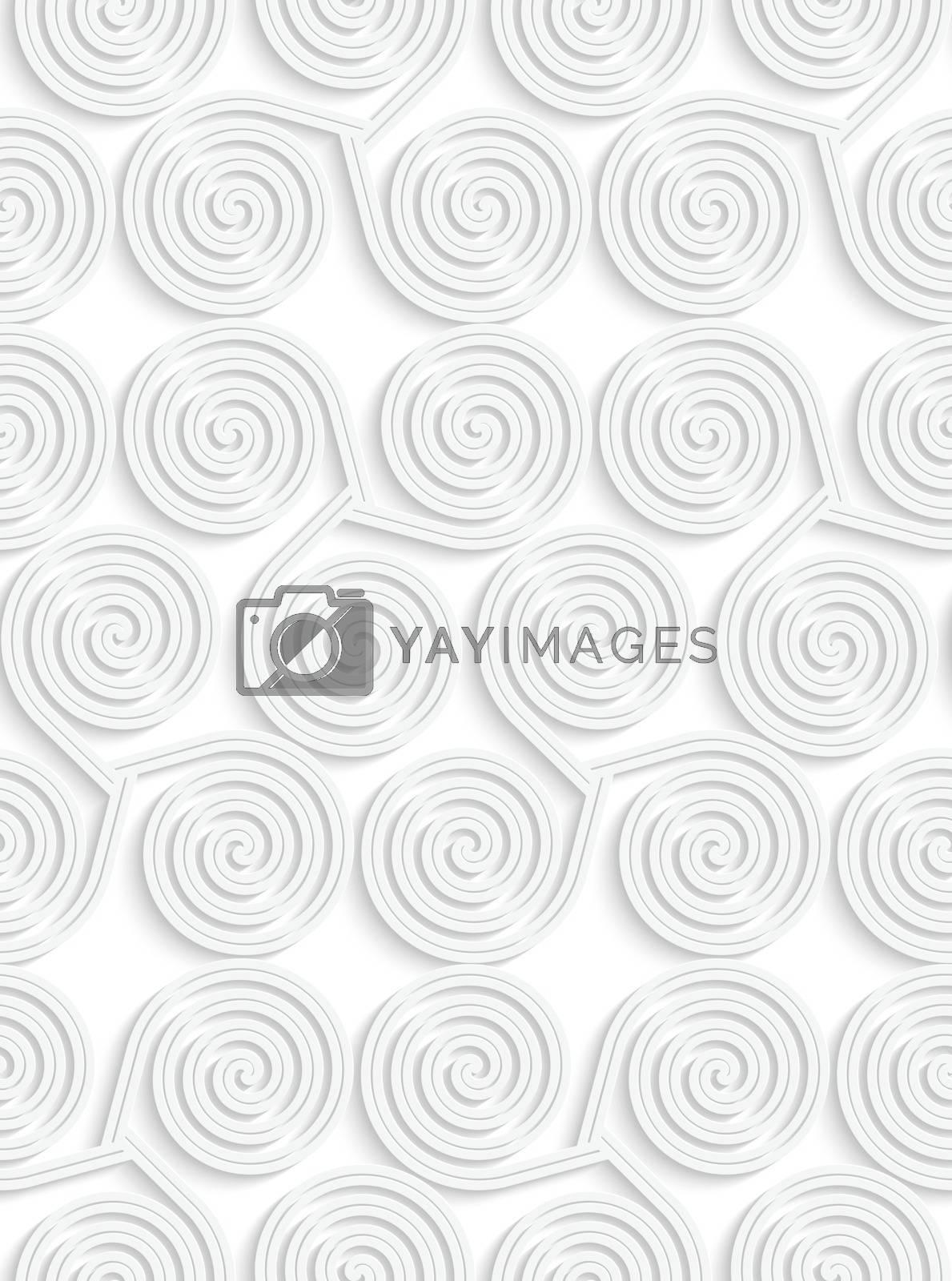 White paper 3D three spirals by Zebra-Finch