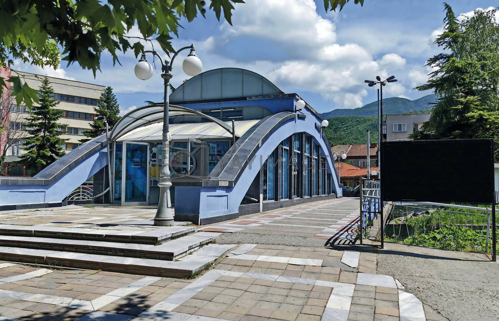 Covered bridge of river in Peshtera town