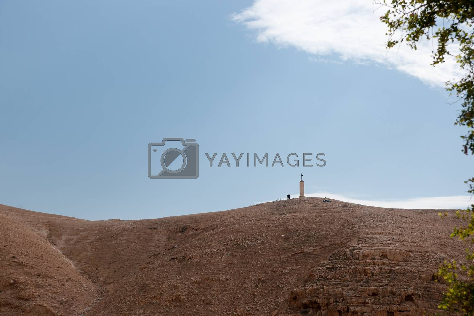 Wadi celt judean desert monastery cross
