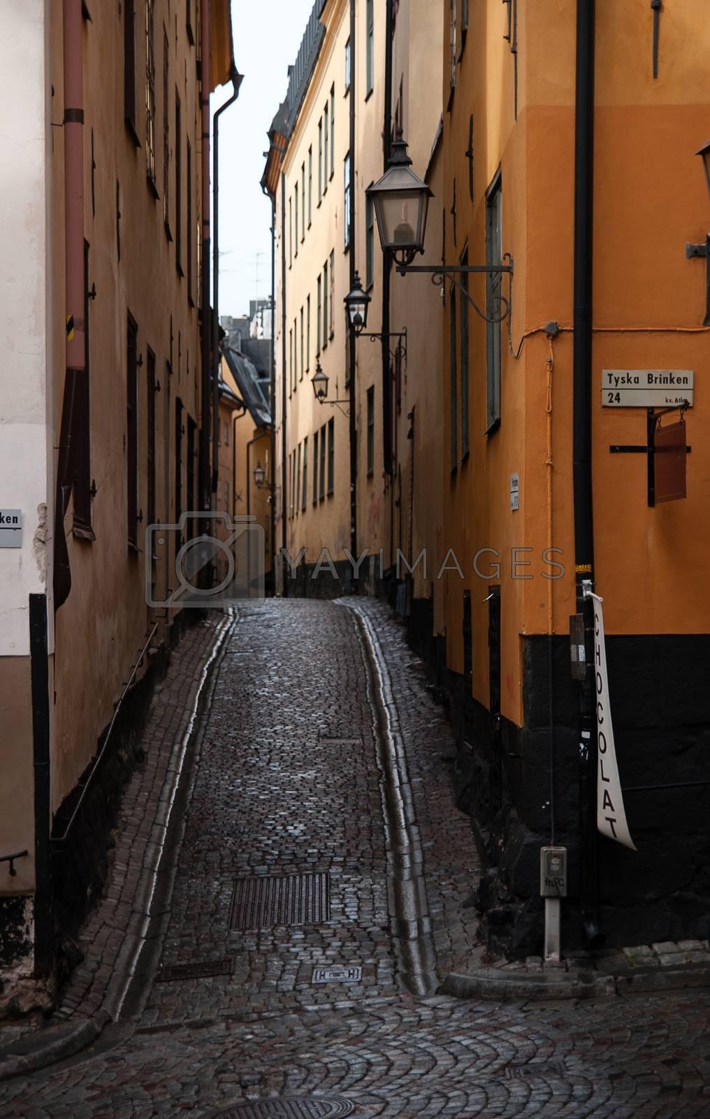 Gamla stan stockholm history center streets